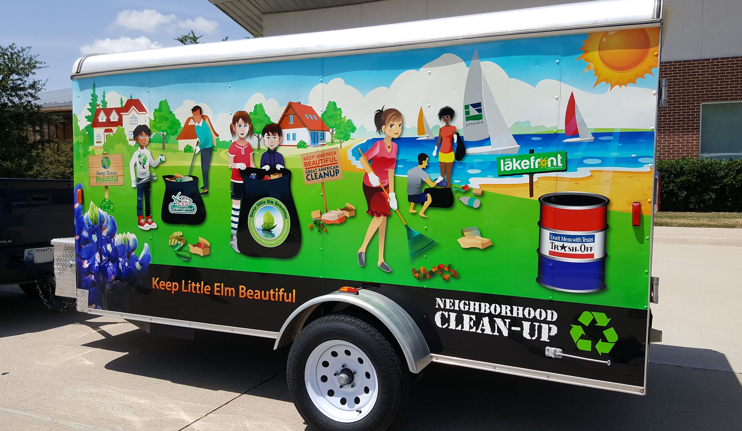 KLEB Neighborhood Clean Up Trailer
