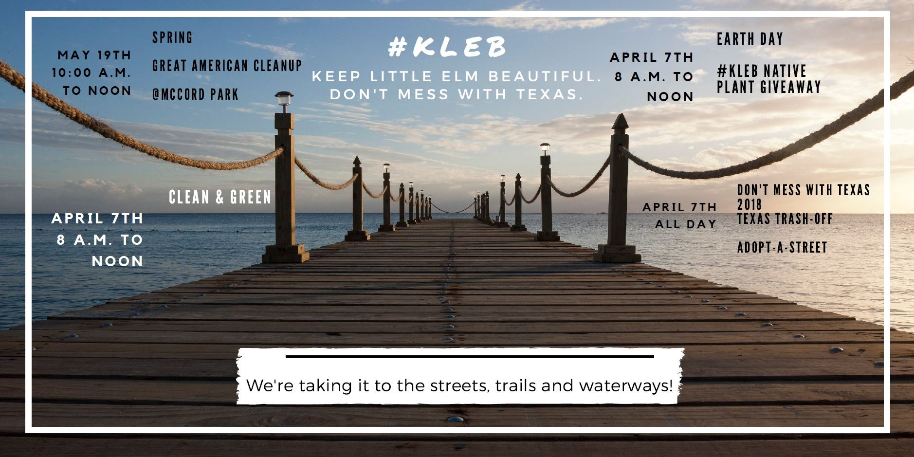 KLEB Taking it to the streets, trails and waterways Header