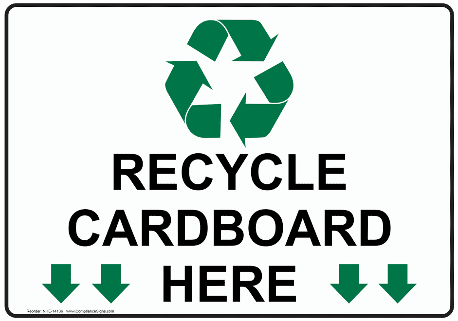 Recycle Cardboard Here