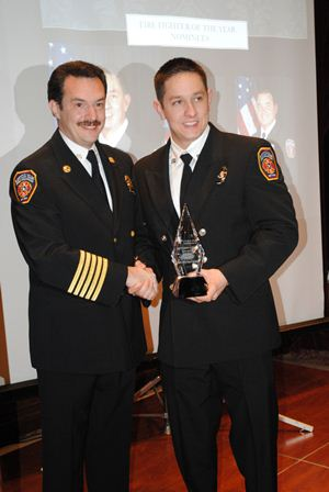 Fire Chief and Jon Michael Garza - Firefighter of the year - 2012.jpg